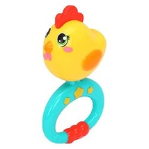 Set of 2 Plastic Cartoon Chick Baby Infant Rattles Baby Toys Hand Bell