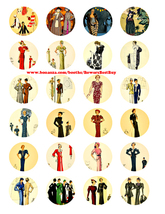 vintage 1920s flapper girl fashion clipart digital download collage shee... - $2.50