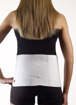 """Corflex BACK-2-FORM Support w/Double Pulls WHITE Large 36-42"""" - $30.99"""