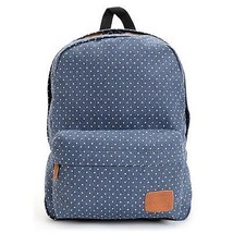 Vans Deana II Backpack Bag Blue Denim POLKA DOT BACK PACK SKATE BOOK BAG... - $42.06