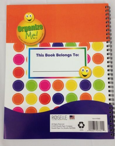Roselle Student Planning Reading Log School Assignment Planner Organizer, New