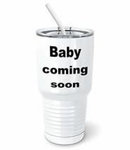 PixiDoodle Coming Soon Pregnancy Announcement Tumbler with Spill-Resista... - $32.29