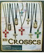 Vintage Mini Crosses Gumball Vending Machine Charms Header Display Card ... - £21.59 GBP