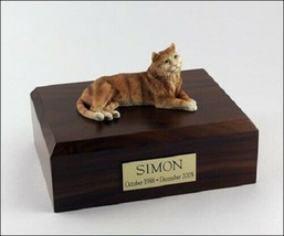 Tabby Orange Cat Figurine Pet Cremation Urn Available in 3 Diff Colors &... - $169.99+