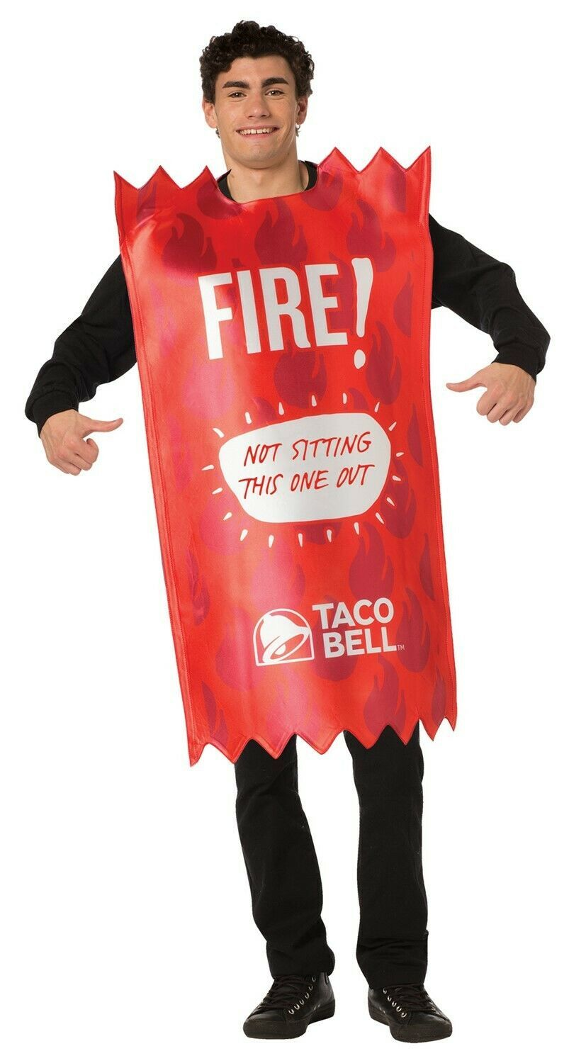 Primary image for Rasta Imposta Unisex Taco Bell Fire Sauce Packet Adult Sized Costume