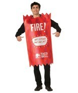 Rasta Imposta Unisex Taco Bell Fire Sauce Packet Adult Sized Costume  - $39.99