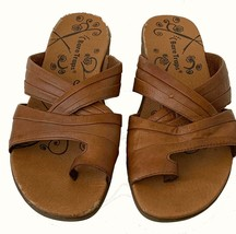 Ladies Pecan Colored Bare Traps Sandals (Mules), Toe Strap, 2 Mid Foot S... - $20.97