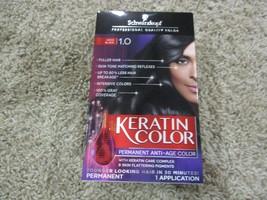 BNIP Schwarzkopf Keratin Permanent Anti-Age Hair Color, Onyx Black 1.0 - $3.96