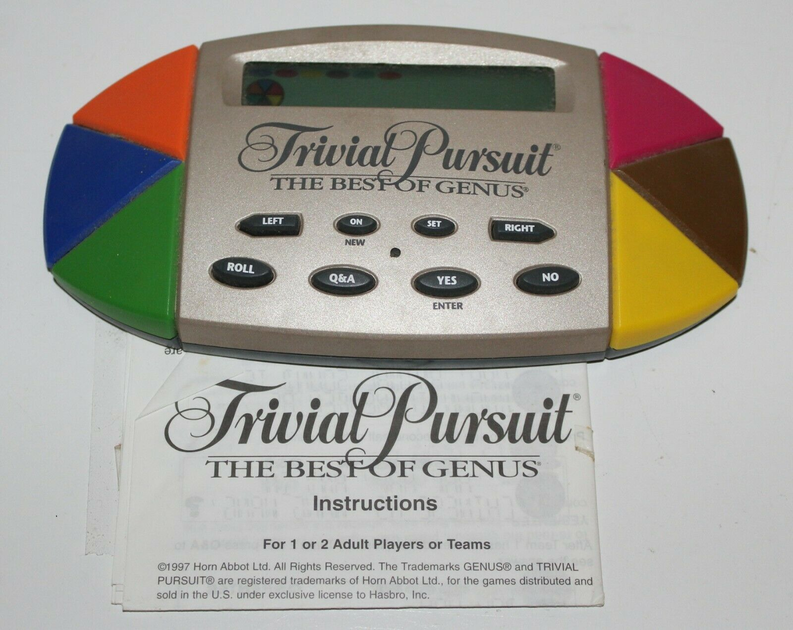 Primary image for Trivial Pursuit The Best of Genus Electronic Hand-Held Game 1997