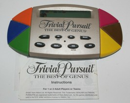 Trivial Pursuit The Best of Genus Electronic Hand-Held Game 1997 - $9.89