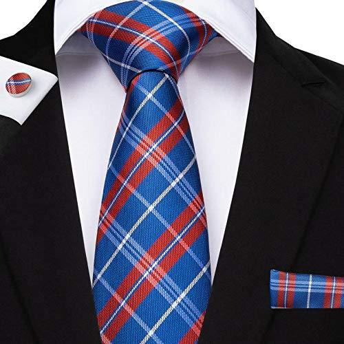 "Primary image for Classic Extra Long Mens Tie Necktie Hanky Silk N-7520 (8.5""x160"") Multi Color Tk"