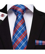 "Classic Extra Long Mens Tie Necktie Hanky Silk N-7520 (8.5""x160"") Multi ... - $17.82"
