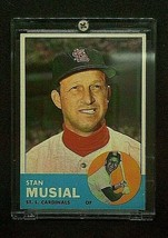 1963 Stan Musial Original Topps Baseball Card #250 Ungraded Near Mint Co... - $880.00