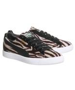 Puma CLYDE Suits Faux Fur Zebra Brown Khaki Black Stripes Basket Shoes M... - $64.99