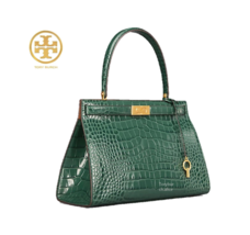 Tory Burch Lee Radziwill Embossed Satchel 50770 Nowood Color - $390.00