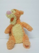 Disney Store Tigger Plush Pastel Gumdrop Orange Yellow Curly Faux Fur Pi... - $14.50