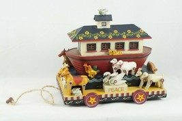 Demdaco Resin NOAH'S ARK Figurine / Box Kathy Killip Americana Christmas... - $28.54