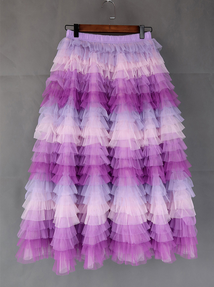 Tiered tulle midi skirt 3