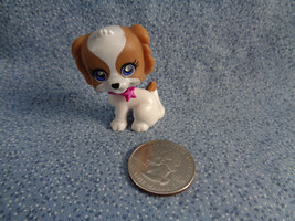 Polly Pocket Mattel 2007 Replacement PVC Jewel Eyes White & Tan Puppy Do... - $1.17