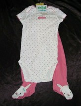 Carters Child of Mine Baby Girl My First Easter 2 Pc Outfit Bunny Rabbit 6-9 - $15.84