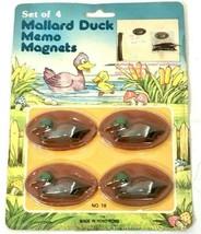 Vintage Mallard Duck Magnets Memo Holder New In Package - $10.39