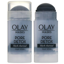 2X Olay Masks Pore Detox Black Charcoal Clay Stick 1.7oz - $11.35