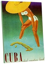 "Pingo World 0617QTG5DFG ""Cuba Vintage"" Advertising Poster Gallery Wrapped Canvas - $57.37"