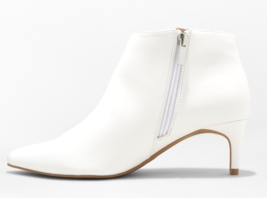 A New Day Women's White Dominique Pointed Kitten Heel Booties NEW w Tags image 3