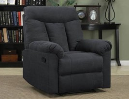 Gray Recliner Chair Den Man Cave Living Room Furniture Polyester Microfi... - $257.39