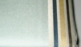 Allen + Roth NORTHFIELD Aqua Stripe Tan Blue Thermal Panel Drape Curtain... - $28.69