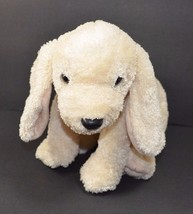 "Ty Dog Beanie Buddies 2002 Off White Cream 9"" Brown Collar - $29.69"