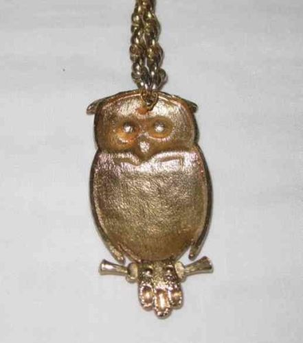NEAT Vintage HOBE Figural OWL Necklace