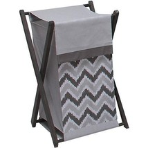 Bacati - Ikat Hamper with Cotton Percale cover, mesh liner and Natural C... - $34.68