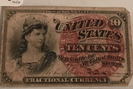 Fractional United States Currency - 10 Cents - Extra Fine Condition - EX... - $79.50