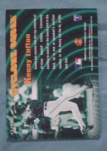 1995 UC3 Cyclone Squad Cleveland Indians Baseball Card #CS19 Kenny Lofton