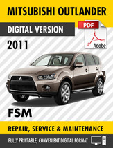 2011-2012 Mitsubishi Outlander Sport RVR Factory Repair Service Manual M... - $13.86