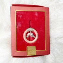 Lenox BABY JEWELS BABY RING GIRL Christmas Ornament 2006 Silver Plated I... - $25.92