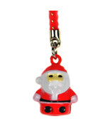 SANTA CLAUS BELL CHARM Christmas Cell Phone Strap NEW - $3.99