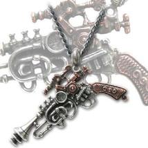 SteamPunk Victorian The Duellist Cantosonic Wave Gun Brass Pewter Pendan... - $35.79