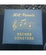 Vintage Hit Parade Record Album Drink Coasters in Case Set Cocktail Part... - $39.59