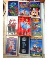 Lot of 12 Children's VHS Movies: Fantasia, Alice in Wonderland, Little M... - $37.99