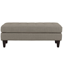Empress Upholstered Fabric Bench in Granite - $189.38