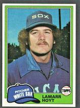 Chicago White Sox Lamarr Hoyt 1981 Topps Baseball Card # 164 nr mt - $0.50