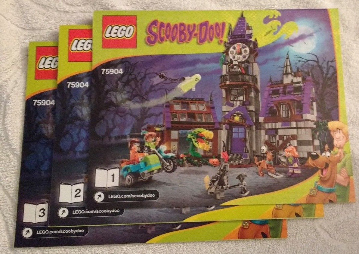 Primary image for 2015 LEGO Scooby Doo Mystery Mansion INSTRUCTION MANUAL ONLY (75904) NEW