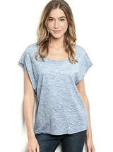 Le Lis Top T Casual Blue Size M, L Choice Cap Sleeve Shirt Denim Lightwe... - $12.99