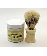 Handmade Foaming Whipped Cream Shaving Cream Soap,Shaving Brush,Gift Set... - £9.44 GBP