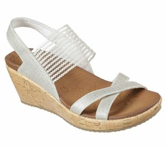 Skechers Sling Back Stretch Wedges - Beverlee High Tea Natural 10 M - $39.59