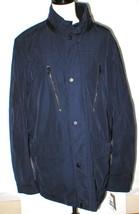 New NWT L Mens Coat Michael Kors Jacket Midnight Dark Blue Rain Wind Res... - $265.05