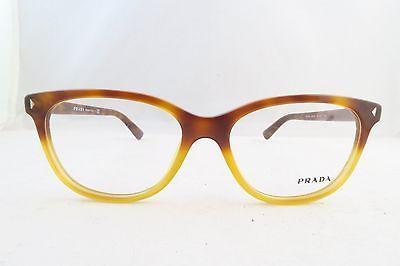 Prada VPR 14R TKU-1O1 Light Havana New Authentic Eyeglasses 52mm Square - 25