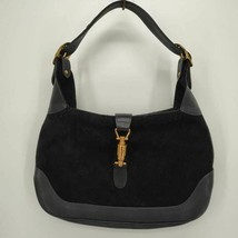 Vintage Susan Gail Womens Hobo Handbag Black Leather Italy Medium purse - $45.29